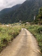 Steep paved road at the start