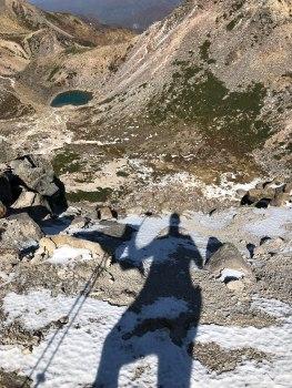 Snow & tarns at the top
