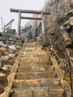 Shrine near the top